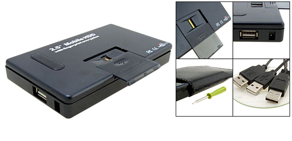 2.5'' Mobile External USB IDE Hard Drive Enclosure with Fingerprint Encryption