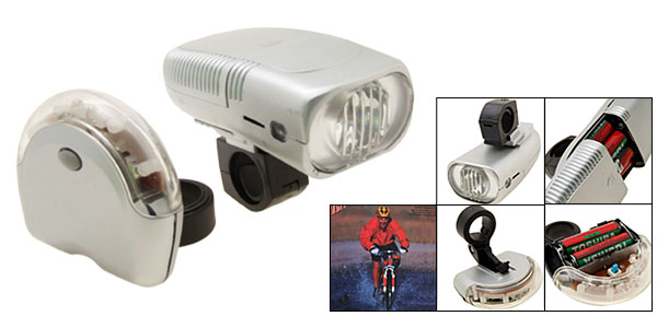 Super Bright Bike Headlight 6 LED Rear Flash Light Lamp Bicycle Torch