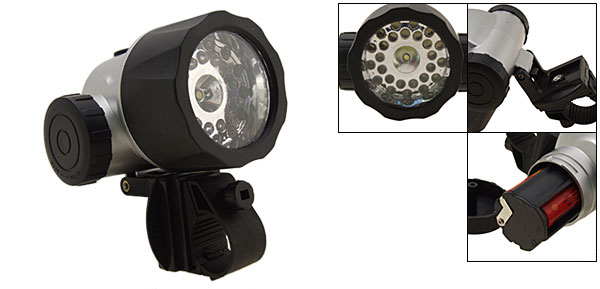 LED Bicycle Torch Head Flash Light Bike Lamp 26+1