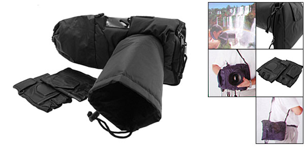 Black Camera Rain Protection Sport Shields Cover for SLR