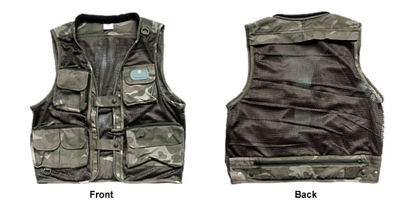 Army Camouflage Thicket Cameraman Gilet Clothes