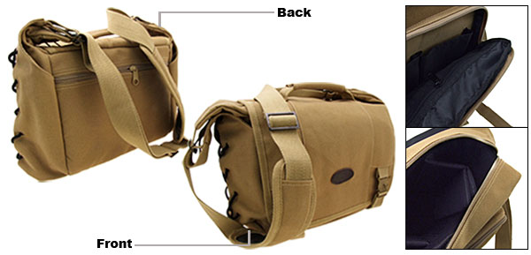 Khaki Camera Video Digital Camcorder Shoulder Bag Case