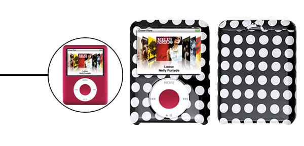Polka Dots  Plastic Protector Hard Case for iPod Nano 3G