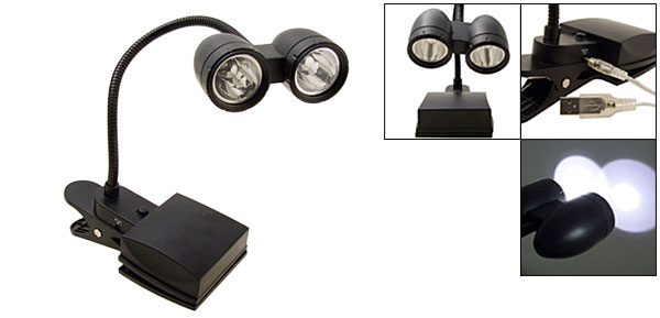 Bright Eyes Travel 2 LED Clip Reading Lamp