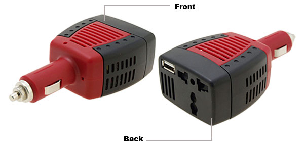Car Cigar Socket DC12V to AC220V 75W 100W Power Inverter