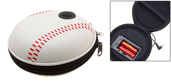 Portable Baseball Carrying Case Speakers for iPod MP3 MP4 CD