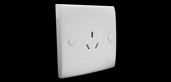 White 3 Pin Australia AU Socket Outlet Wall Plate Panel 10A 250V