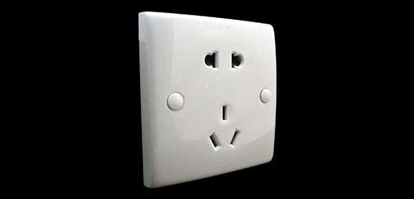 AC 250V 10A 3-Pin AU 2-Pin US USA EU Wall Plate Panel Electrical Outlet White