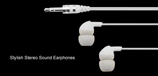 3.5mm Audio Sound Earphones Headphones for MP4 MP3 Player White