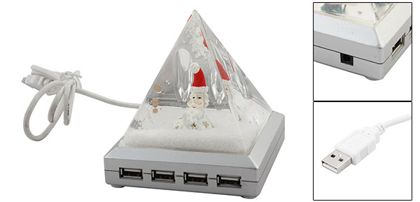 Pyramid 4 Ports USB Hub for Laptop Computer with Pen Holder
