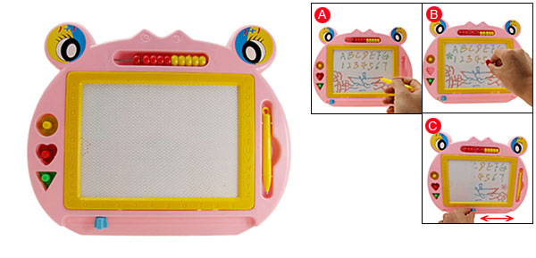 Educational Toy Reuseable Magnetic Drawing & Writing Board Gift Pink
