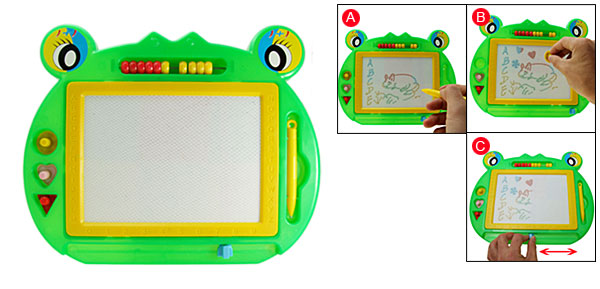 Educate Toy Reuseable Magnetic Drawing & Writing Board Gift Green