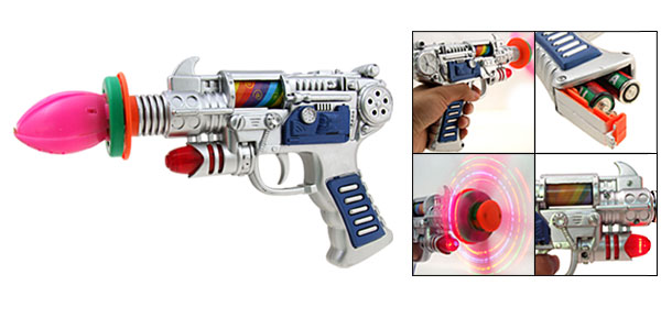 Silvery Kids IR Toy Gun Pistol with Sound Effect and Flash