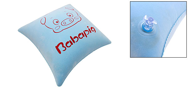Baby Blue Inflatable Piggy Square Hug Back Pillow