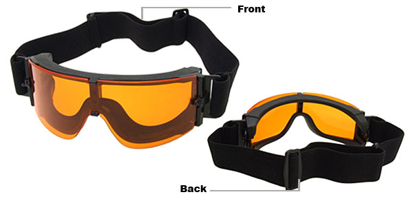 Sports Sunglasses Shooting Goggles with Adjustable Headstrap