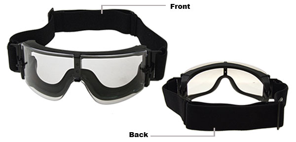 Brand New Ski Snowboard Skate Sports Goggles Glasses Transparent Lens