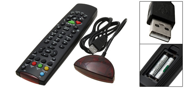 PC  Media Center Remote Control USB IR Receiver