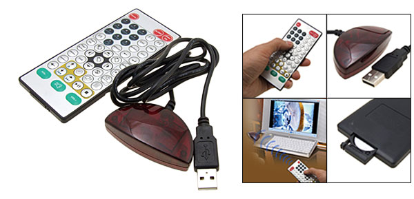 PC  Multimedia Remote Control USB IR Receiver
