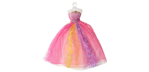 Fashion Wedding Party Doll Fairy Princess Colorful Cloth Dress