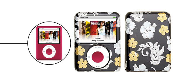 Stylish Flower Pattern iPod Nano 3G Plastic Hard Cover Case