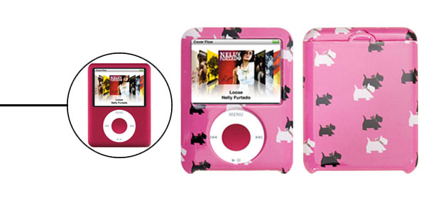 Dog Pattern Plastic Hard Cover Case for iPod Nano 3G