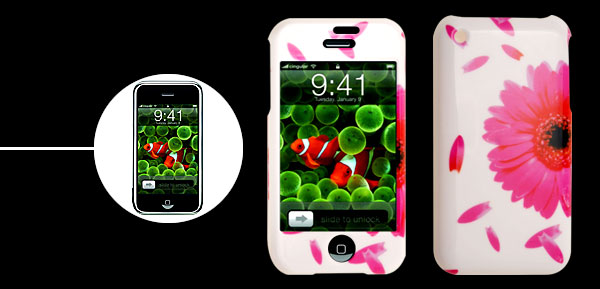 Stylish Flower Pattern Plastic Case Cover for Apple iPhone 1st Generation