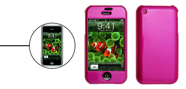Stylish Plastic Case for iPhone 1st Generation Rosered