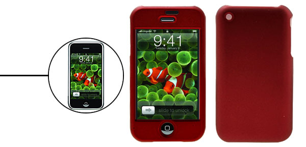 Red Hard Plastic Protector Case for Apple iPhone 1st Generation
