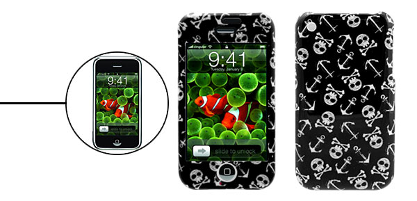 Skull Pattern Hard Plastic Protector Case for Apple iPhone 1st Generation