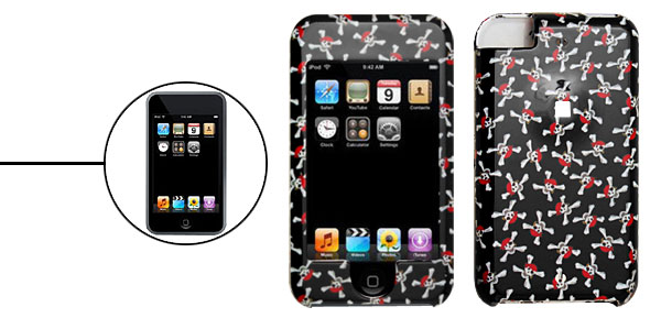 Skull and Bones Plastic Protector Hard Case for Apple iPod Touch 1st Generation