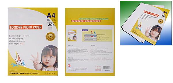 Imaging A4 20 Sheets Glossy Economy Photo Paper