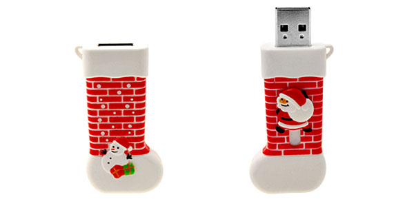 2GB Santa Claus Stocking USB Flash Memory Drive