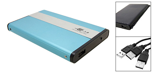 Baby Blue 2.5'' IDE HDD Hard Disk Enclose USB 2.0 Hard Disk Drive Case