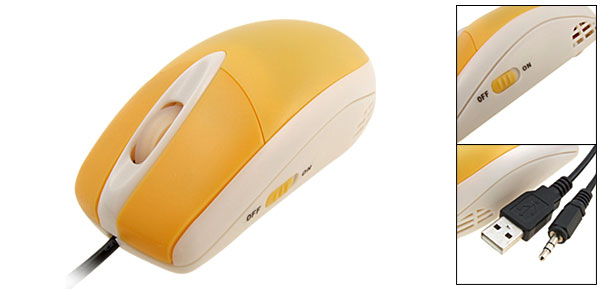 800 DPI USB Optical Music Computer PC Laptop Mouse Yellow