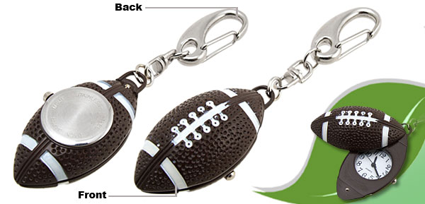 Mini Football Key Chain Quartz Watch with Cover