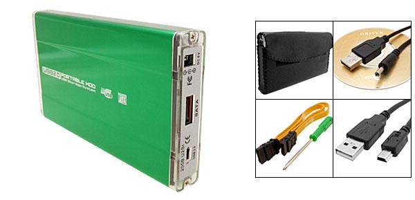 Green USB 2.0 2.5