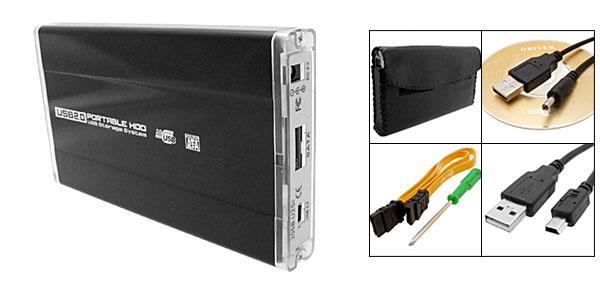 Black USB 2.0 2.5
