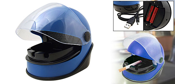 Motorcycle Safety Helmet Air Freshener Smokeless Ashtray