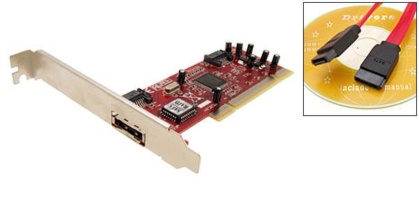 1 eSATA + 2 SATA Ports RAID Host Controller PCI Card