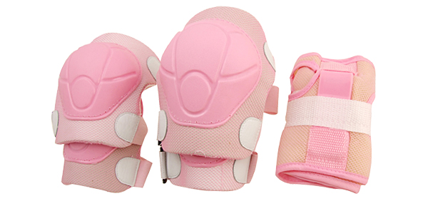 Knee and Elbow Pad for Cycling Roller Skating Rollerblading - Pink