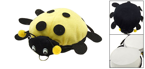 Lovely Portable Yellow Ladybug CD DVD Carrying Case Bag 12 PCS