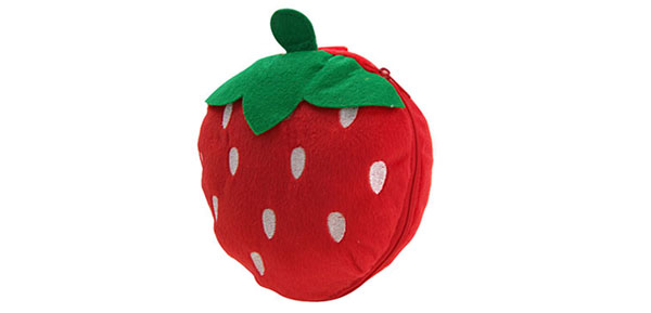 Lovely Portable Strawberry CD DVD Carrying Case Bag 12 PCS