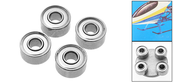 BR030804 Bearing RC Helicopter Parts for Pigeon 450M1 and T-Rex 450 (Inner Diameter 3mm)