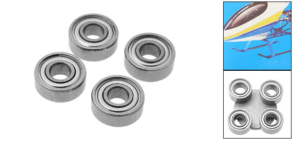 EK1-0566 Bearing RC Helicopter Parts for Honey Bee King 2 (Inner Diameter 3mm)