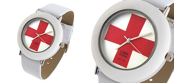 Fashion Jewelry Red Cross Pattern Design Ladies Quartz Wrist Watches