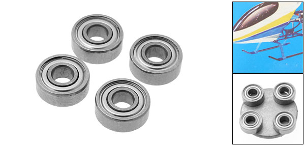 BR030803 Bearing RC Helicopter Parts for Pigeon 450M1 and T-Rex 450 (Inner Diameter 3mm)