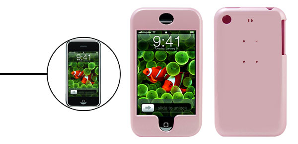 Protective Deluxe Pink Plastic Hard Case Holder for Apple iPhone 1st Generation