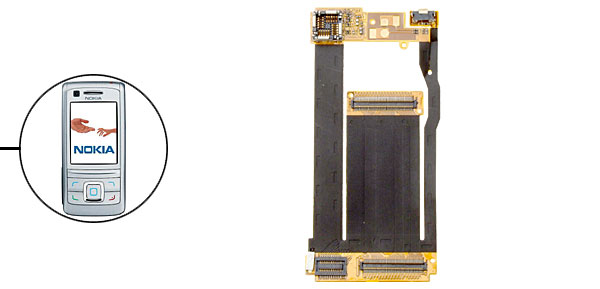 LCD Flex Cable Connector for Nokia 6280 6288
