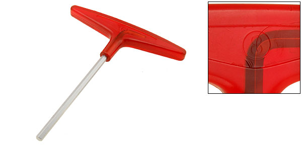 Metric Red T-Handle Hex Wrench Hand Tool(Size 8mm)