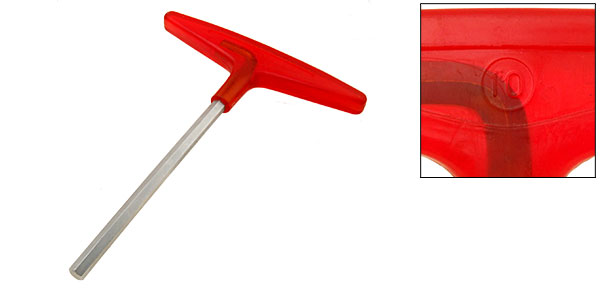Metric Hex Wrench Tool with Red T-Handle(Size 10mm)